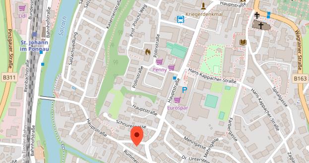 St. Johann, Hauptstrasse 67, OpenStreet Karte